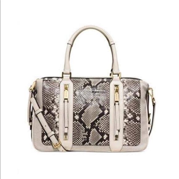 43c1f9ce7249a9 Michael Kors python embossed Julia large satchel.  M_5b78964b1b16db0d1b606c92. Other Bags ...